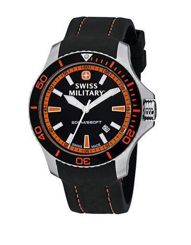 Swiss Military Mens Sea Force Watch-BLACK-One Size