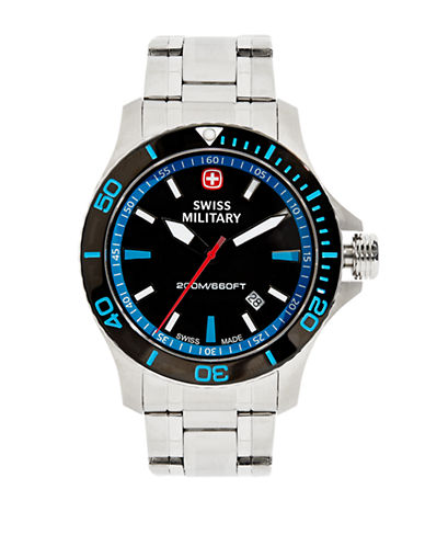 Swiss Military Seaforce Driver Stainless Steel Watch-SILVER-One Size
