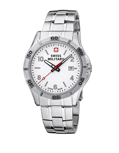 Swiss Military Platoon Series Watch-SILVER-One Size