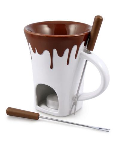 Swissmar Four-Piece Fondue Mug Set-WHITE-One Size