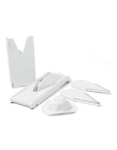 Swissmar Six-Piece V-Slicer Plus Mandoline Set-WHITE-One Size