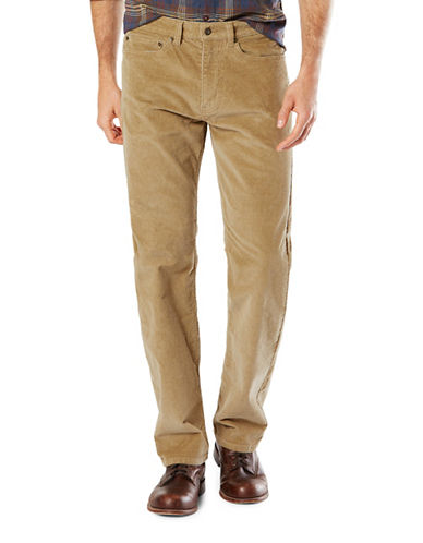 Dockers Straight-Fit Jean Cut Khaki Pants-BEIGE-38X34