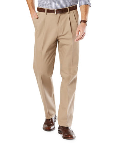Dockers Classic-Fit Signature Stretch Pleated D3 Pants-TIMBERWOLF-42X30