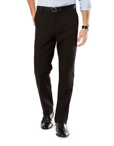 Dockers Straight Fit Signature Khaki with Stretch-BLACK-42X32