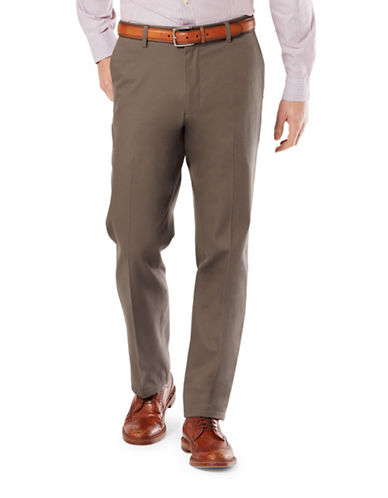 Dockers Straight Fit Signature Khaki with Stretch-DARK PEBBLE-40X30