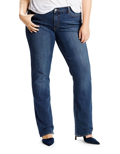 LeviS Plus Relaxed Straight Fit Jeans-BLUE-16W
