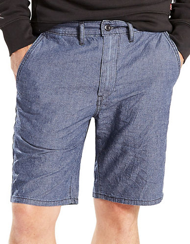LeviS Straight Chino Shorts - Nightwatch Blue-BLUE-36
