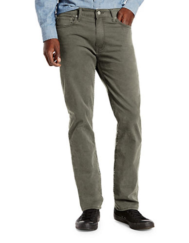 LeviS 513 Slim Straight Fit Revolver Pants-GREY-32X34