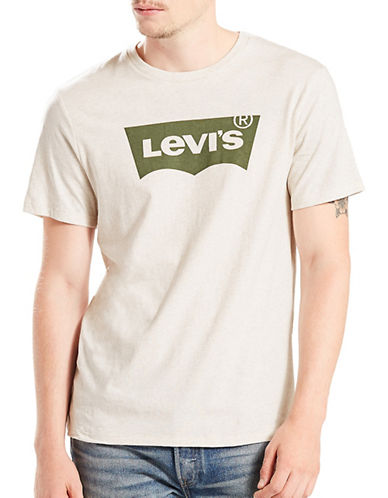 LeviS Batwing Housemark Graphic Tee-WHITE-X-Large