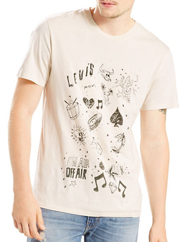 Levi'S Standard Fit Graphic T-Shirt-WHITE-X-Large 88944443_WHITE_X-Large