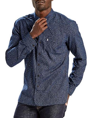 LeviS Selvedge Sunset One Pocket Sport Shirt-BLUE-Small