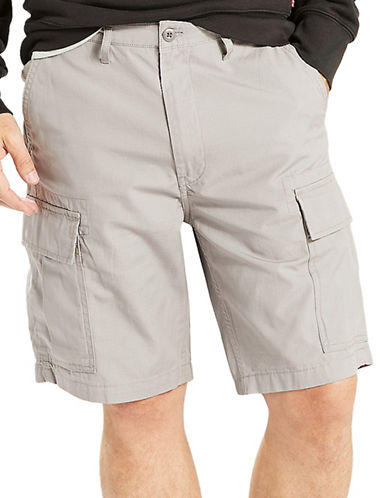 LeviS Monument Ripstop Carrier Cargo Shorts-GREY-31