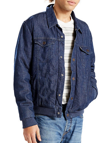 LeviS Varsity Hybrid Trucker Jacket-BLUE-X-Large