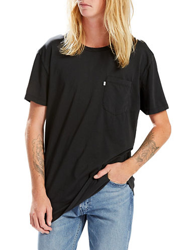 Levi'S Line 8 Short Sleeve Longline Tee-BLACK-X-Large 89060216_BLACK_X-Large