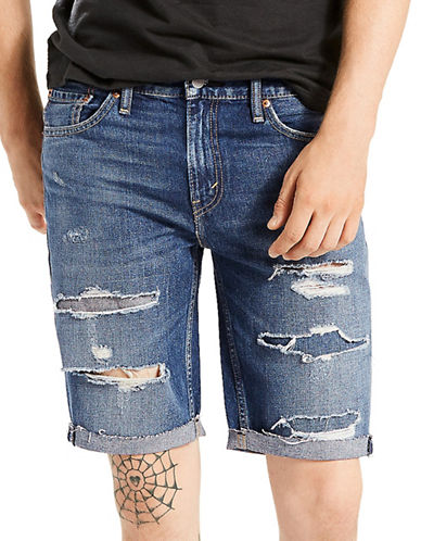 LeviS 511 Slim Fit Cut-Off Shorts Love Bites-BLUE-38