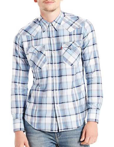 LeviS Barstow Western Shirt-BLUE-Large