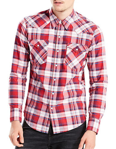 LeviS Barstow Western Shirt-RED-X-Large