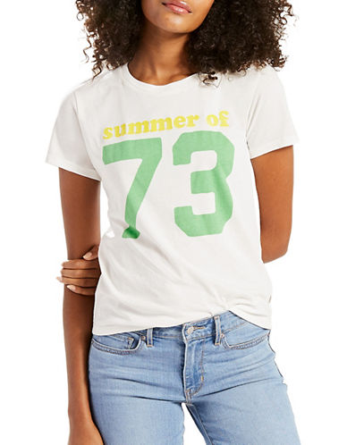 LeviS Perfect Logo-Print Graphic Tee-SUMMER 73-Large