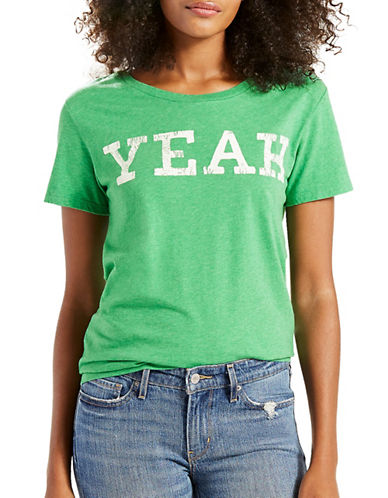 LeviS Printed Graphic Tee-YEAH GREEN-X-Small