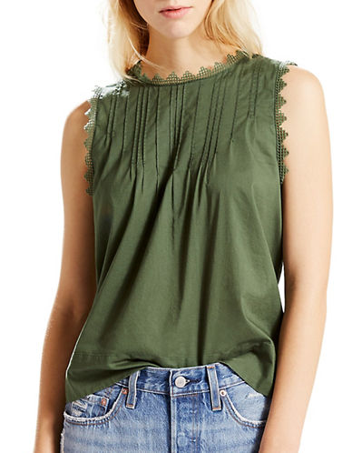 LeviS Janis Zig-Zag Fringed Top-THYME-Small
