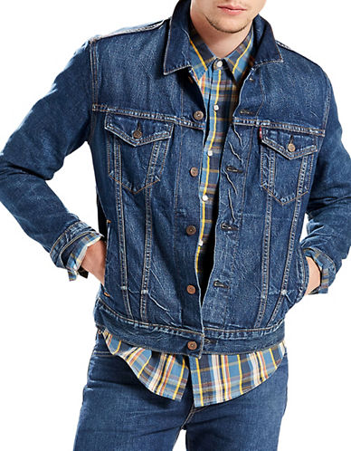 Levi'S Selvedge Cotton Trucker Jacket-BLUE-Medium