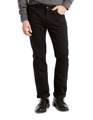 LeviS 513 Slim Straight Jeans-BLACK-28X32