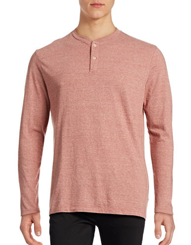 Dockers Tri-Blend Two-Button Henley Top-RED-Large 88814778_RED_Large