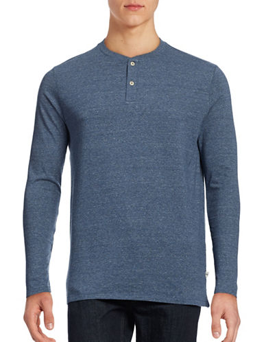 Dockers Tri-Blend Two-Button Henley Top-BLUE-X-Large 88814784_BLUE_X-Large