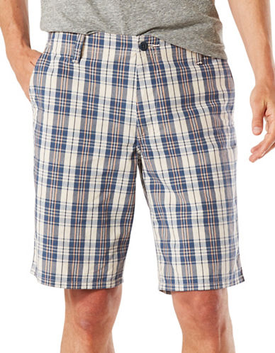 Dockers Straight-Fit Plaid Shorts-ASSORTED-32