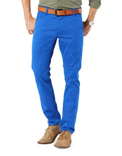 Dockers Alpha Khaki Skinny Tapered Fit Pants-BLUE-29X32