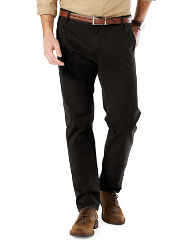 Dockers Alpha Khaki Athletic Fit Pants-BLACK-34X32
