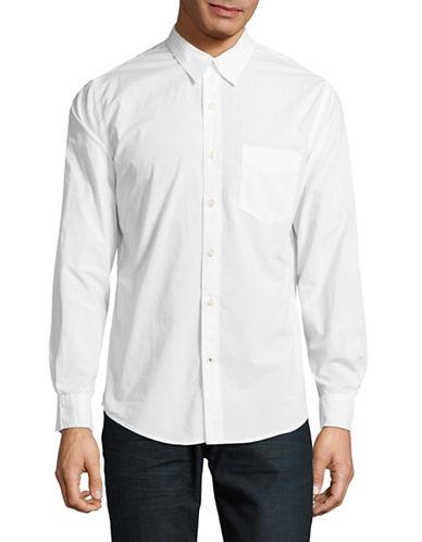 Dockers Spread Collar Cotton Sport Shirt-WHITE-Medium