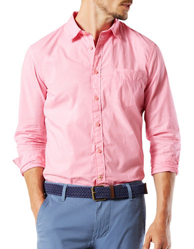 Dockers Woven Slim-Fit Shirt-PINK-Large