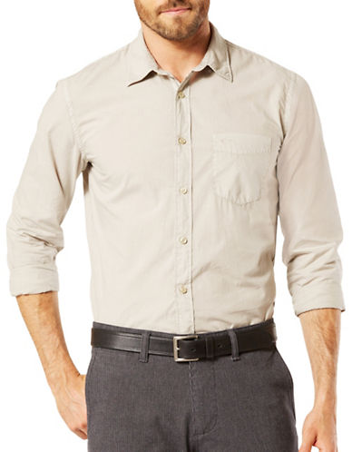 Dockers Woven Slim-Fit Shirt-BEIGE-X-Large