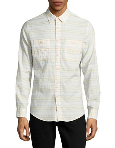 Dockers Windblown Twill Slim Fit Sport Shirt-BEIGE-X-Large