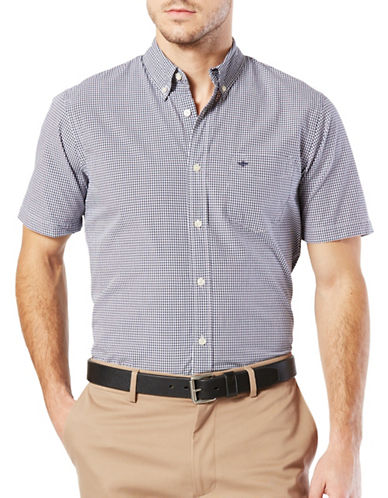 Dockers Standard Essential Poplin Shirt-DARK BLUE-Small