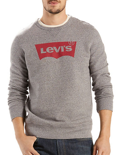 Levi'S Regular-Fit Logo Print Sweatshirt-GREY-X-Large 89222939_GREY_X-Large