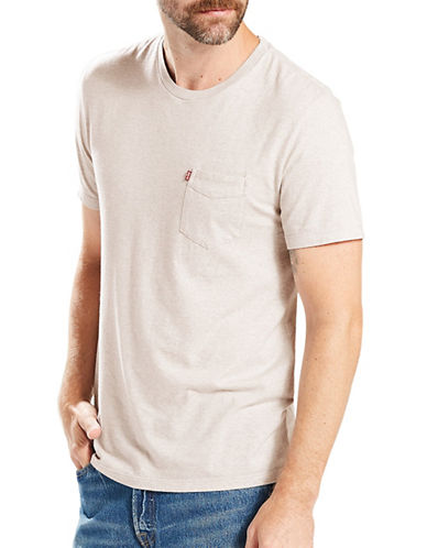 LeviS In Sunset Pocket Tee-BEIGE-Small
