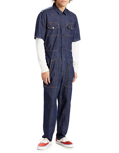 LeviS Orange Tab Coveralls-BLUE-X-Large