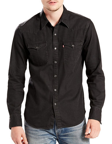 LeviS Barstow Western Shirt-BLACK-Medium