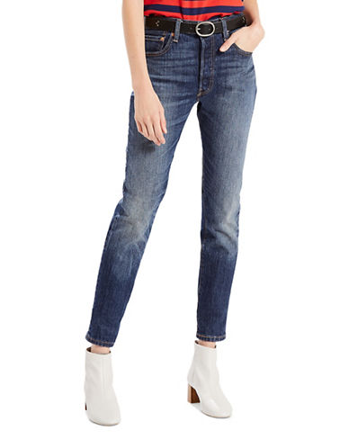 LeviS 501 Self-Edge Skinny Jeans-BLUE-29X30