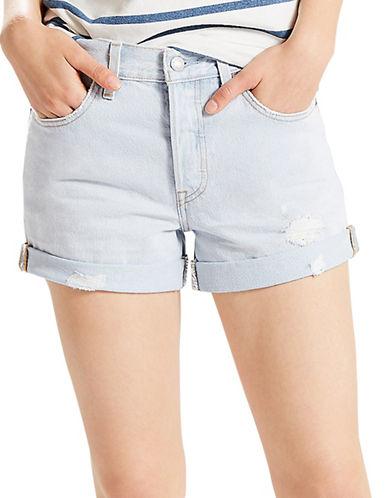 LeviS Mid-Rise Regular Fit Shorts-PALE BLUE-31