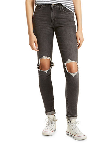 LeviS Ripped Jeans-BLACK-32X32