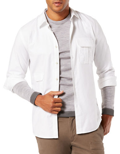 Dockers Utility Shirt-WHITE-Small