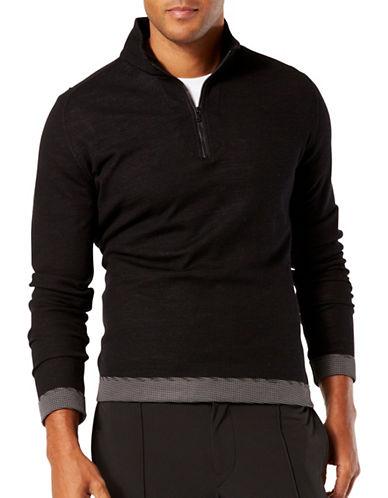 Dockers Half-Zip Wool-Blend Pullover-BLACK-Small 88761440_BLACK_Small