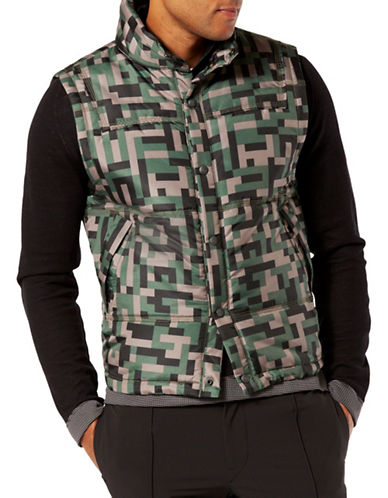Dockers Insulated Vest-OLIVE-Small