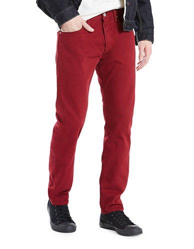 LeviS 501 Original-Fit Cotton Jeans-RED-34X34