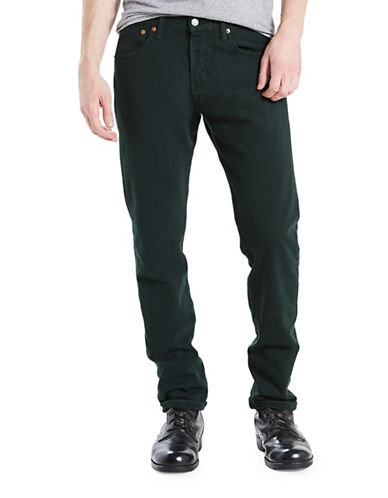 LeviS 501 Original-Fit Cotton Jeans-GREEN-32X32