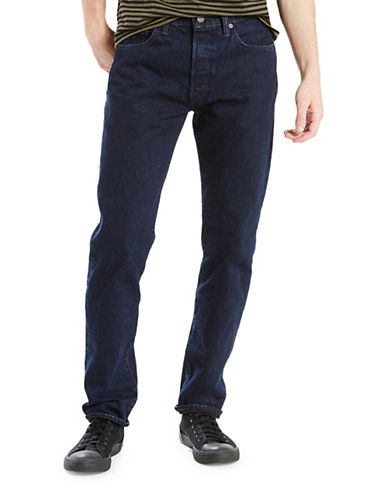 LeviS 501 Carbonized Original-Fit Cotton Jeans-BLUE-34X32