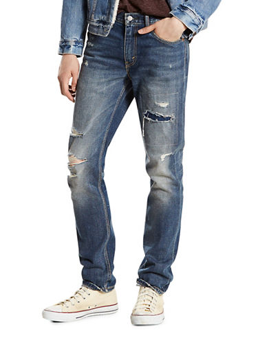 Levi'S 511 Comeback Kid Slim-Fit Distressed Jeans-BLUE-36X30